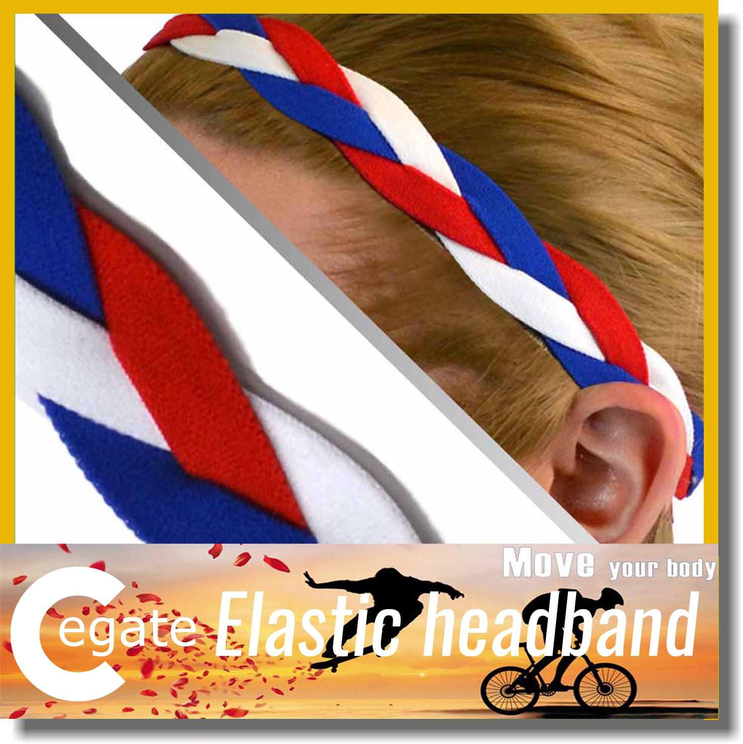 outdoor sport headband different colored elastic weave braided headband with for women free shipping