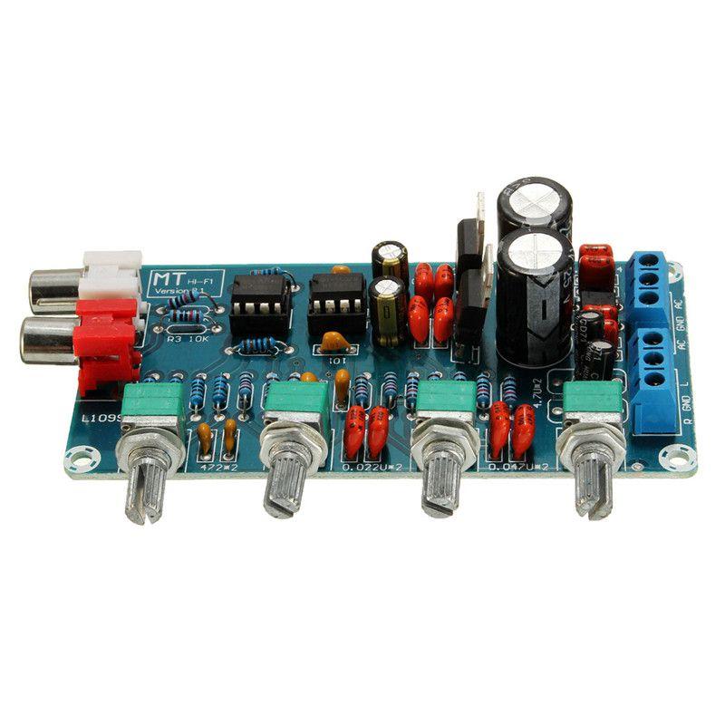 Freeshipping NE5532 OP-AMP مركبتي مكبر للصوت مكبر للصوت لهجة EQ لوحة التحكم أطقم DIY