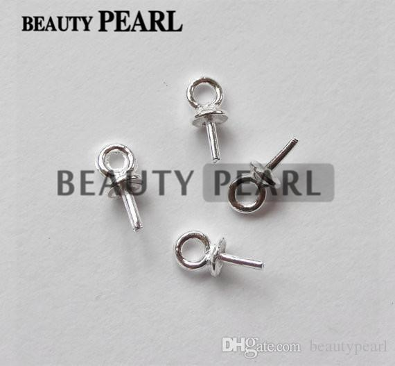 100 Pieces Wholesale Beads End Connectors for Charms DIY Pearl Findings 925 Sterling Silver Bead Caps