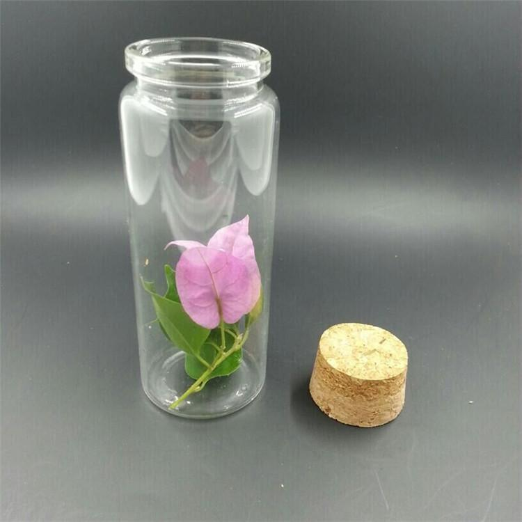 479033mm 100ml Glass Bottles With Cork Clear Transparent Glass Jars Empty Wishing Bottles Wood Stopper 12pcslo