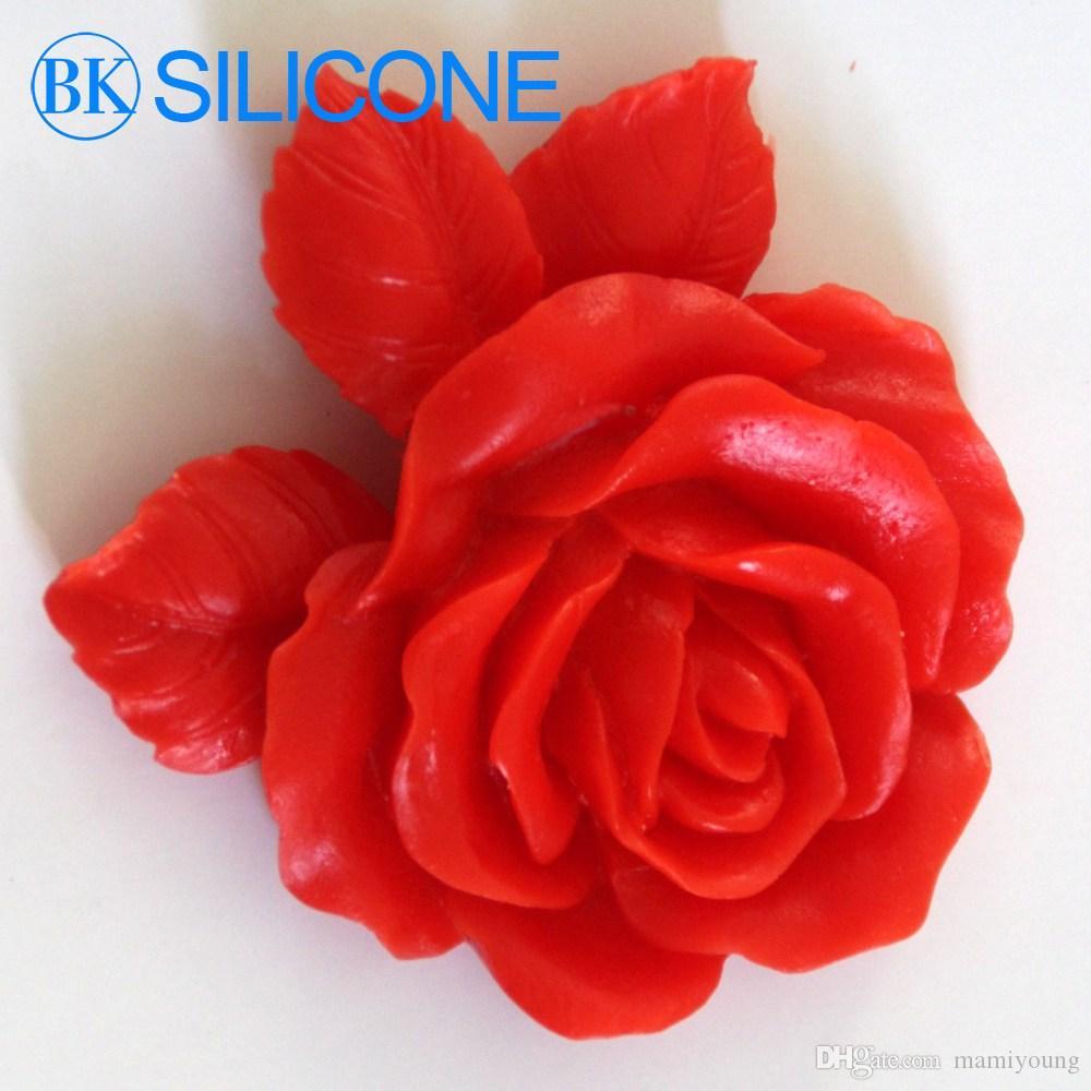 Leafy rose Cake silicone mold cake decorating tools silicone cake sugar craft tools flower mold AA004