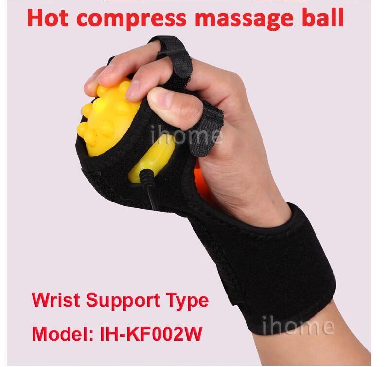 Compresseur chaud infrarouge Masseur pour les mains Massage au ballon Main et doigts Physiothérapie Rééducation Spasme Dystonie Hémiplégie Accident vasculaire cérébral
