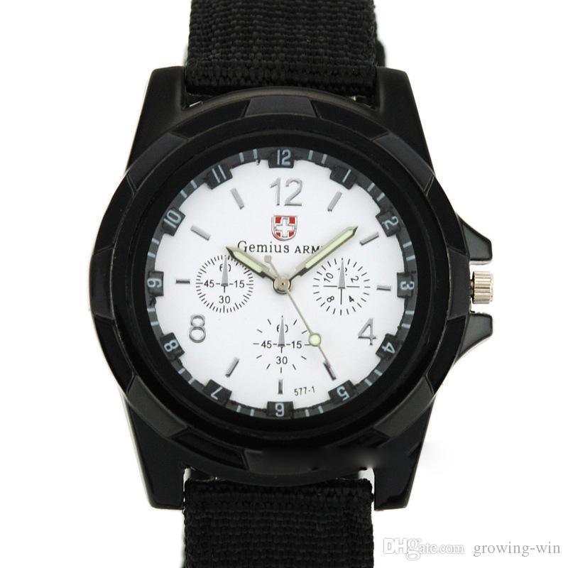 Mode Classic Herren Männer Nylon Leinwand Militäruhr Großhandel Studenten Casual Sport Army Quarz Armbanduhr Uhr