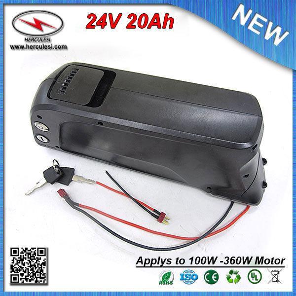 Top Classic 350W Dolphin Nuova bottiglia d'acqua Batteria al litio elettrica 24V 20Ah con caricabatterie Samsung 3000mAh cellulare 15A BMS + 2A