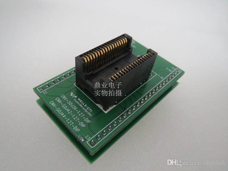 Orijinal WELLS-CTI SOJ36 DIP36 400MIL IC Soket SOJ36 Programcı tester Çip Için 11 MM Yanan programcı