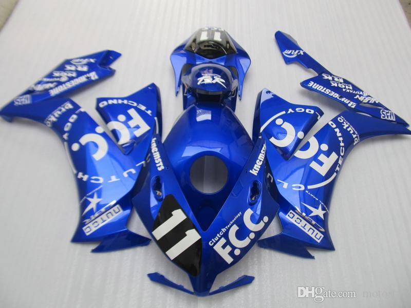 Kit carénage de moulage par injection pour Honda CBR1000RR 12 13 14 15 kit carénages bleu CBR1000RR 2012-2015 OT01