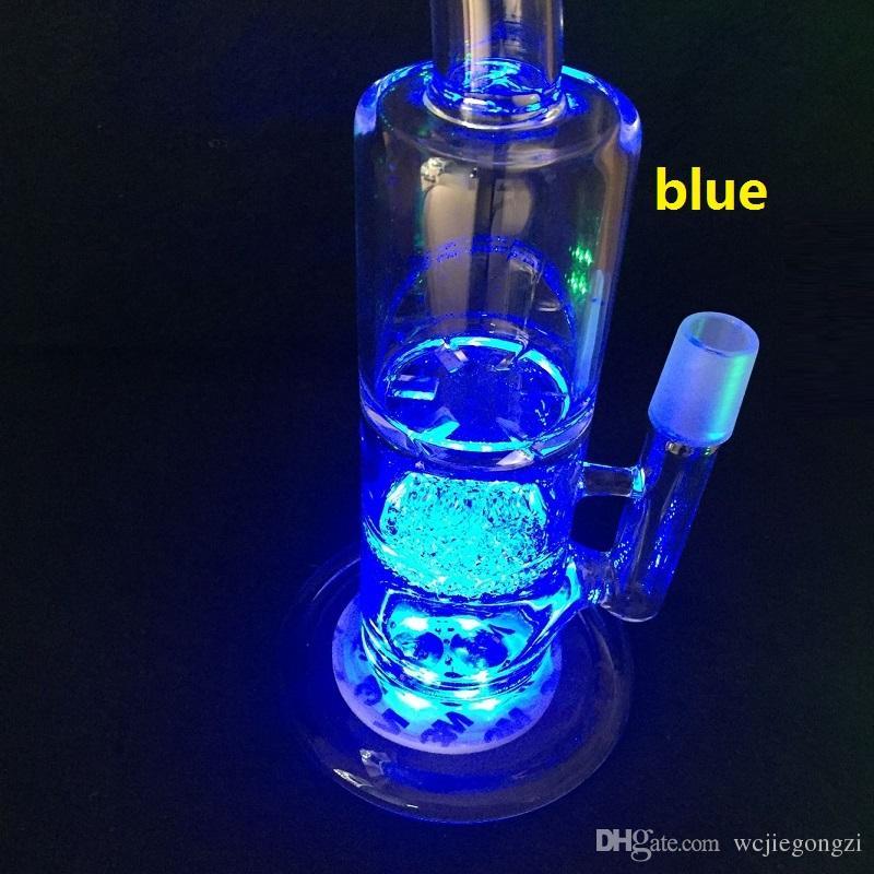 Luce a LED per base in vetro Bong Luce LED multicolore Regolazione automatica in magazzino OLTRE 50Pz DHL libero