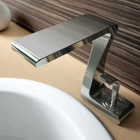 Wholesale- Singola maniglia bagno cascata rubinetto in ottone ...