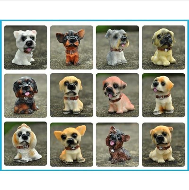 Q versão 12 bonito filhote de cachorro simulação animal artesanato animais decoração artigos de decoração para casa estatuetas de resina