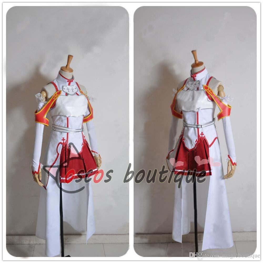 Sword Art Online Asuna Yuuki Ladies Cosplay Costume with Stockings Custom Size