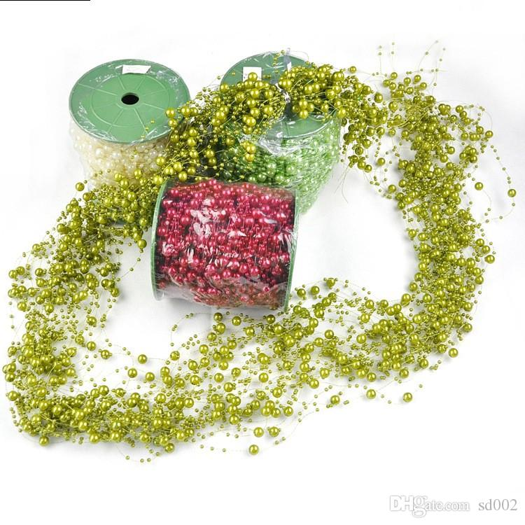 Perle in plastica ABS per monili che fanno linea di pesca Perle Bead Catena String Ghirlanda Decorazioni di nozze di Natale Craft Top Quality 19 5rz FB