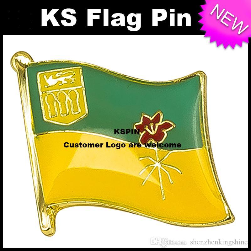 SASKATCHEWAN Flag Badge Flag Pin 10pcs molto Spedizione gratuita KS-0126