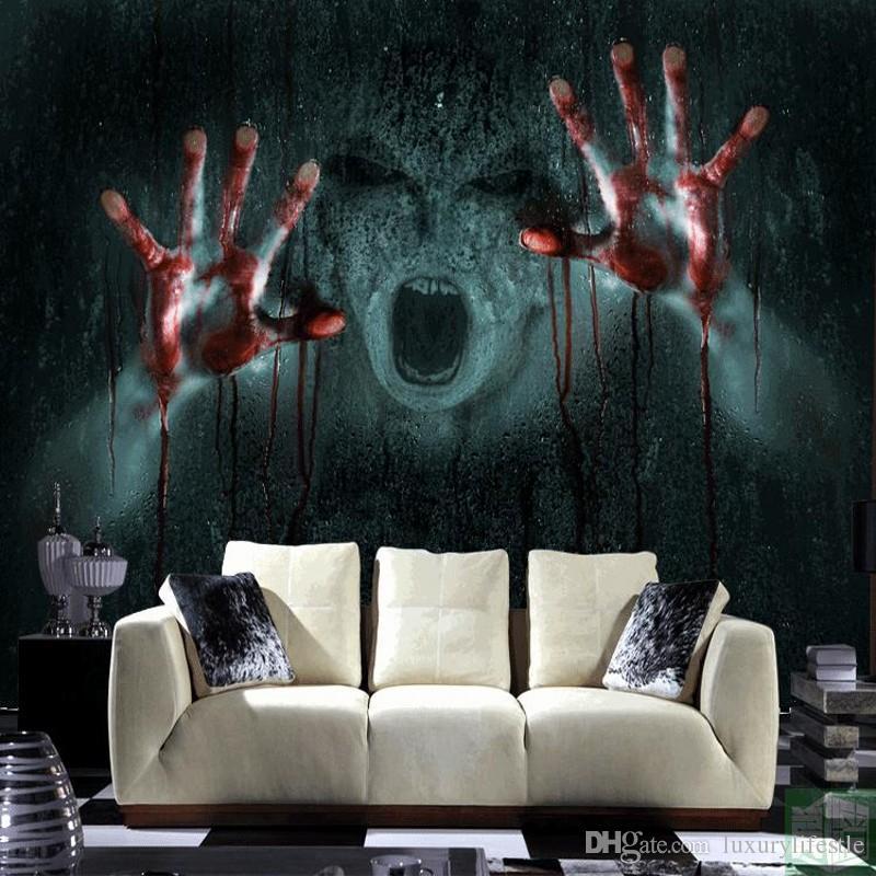 Compre Envío Gratis 3d Stereo Escape Offbeat Eerie Wallpaper Manos Blood Devil Super Scary Horror Custom Haunted Wallpaper Mural A 2487 Del