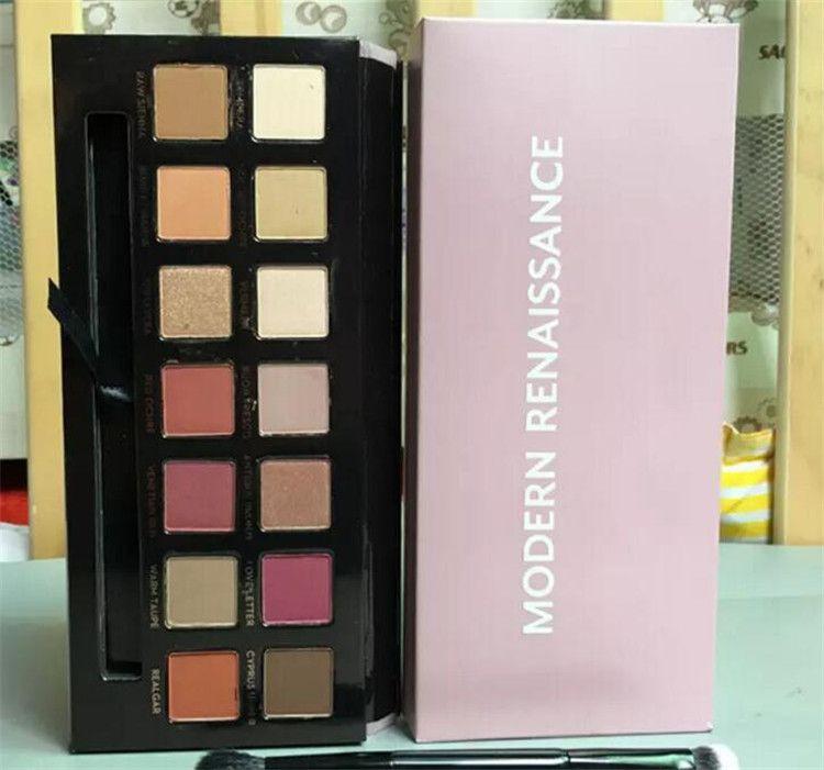 ombra moderna Eye Palette 14colors limitata gamma di colori dell'ombra occhio con la spazzola ombretto rosa tavolozza A08