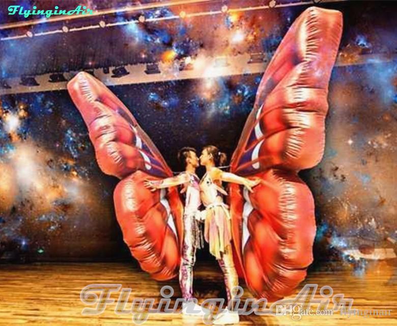 Costume gonfiabile variopinto della farfalla di 2m per la fase / giro / prestazione