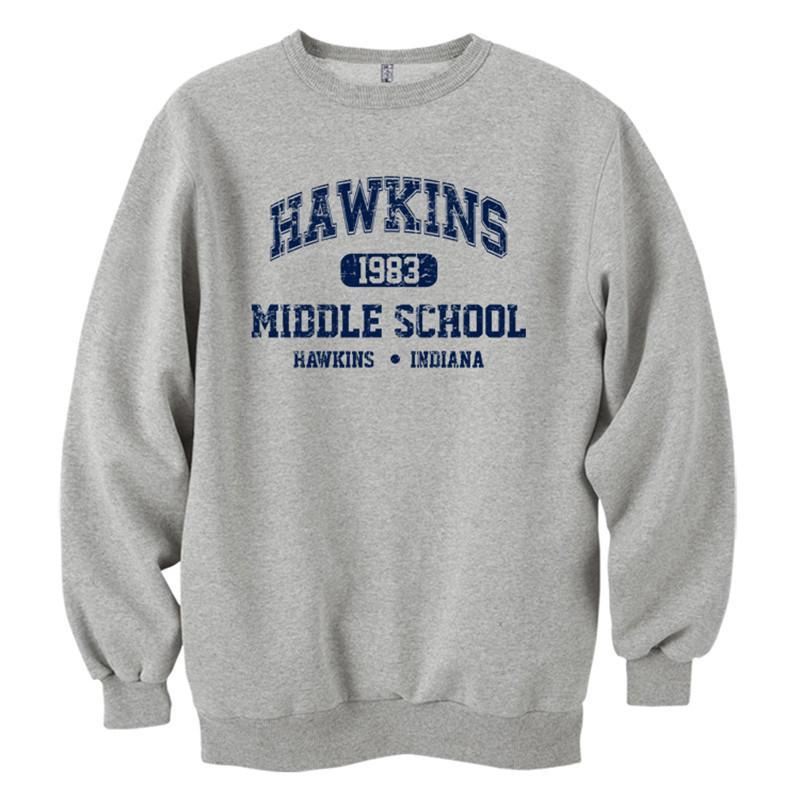 الجملة-أكمام مدرسة هوكينز المتوسطة الطويلة قطن قطن 100% قميص صوف عادي الرجال ذو القلنسوات الطويلة