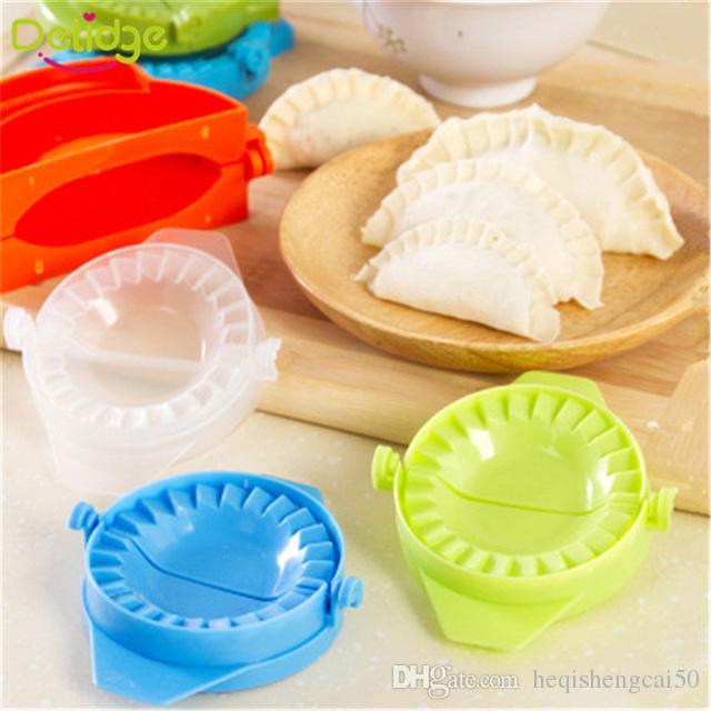 Delidge 2 pcs/set Dumpling Mold plastic 7.5cm Dough Press Dumpling Pie Ravioli Mould Cooking Pastry Chinese Food Jiaozi Maker