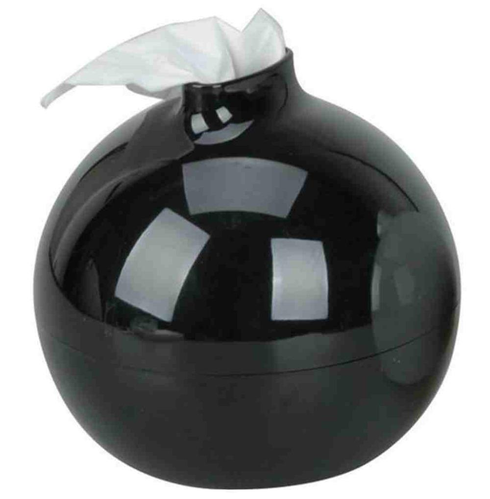 Wholesale- Hot selling! Olymstore(TM) Fashion Round Bomb Shape Toilet Paper Pot Holder Tissue Box Cover (Black) Free shipping