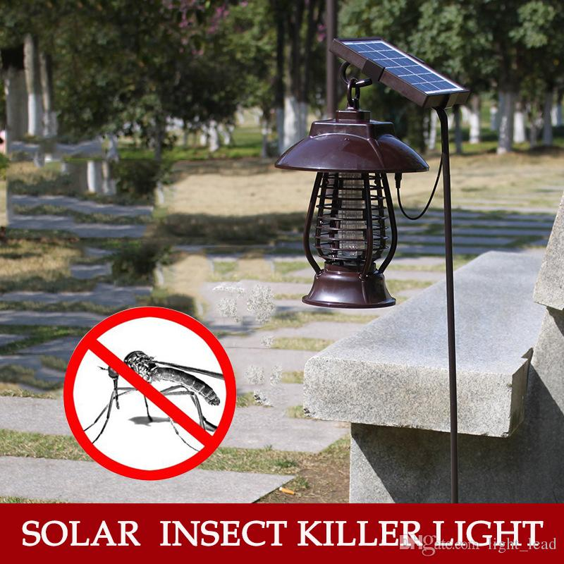 LED Solar Electric Mosquito Killer Lamp Outdoor Waterproof Anti Fly Bug Zapper Insect Repeller Pest Reject Electronics Trap