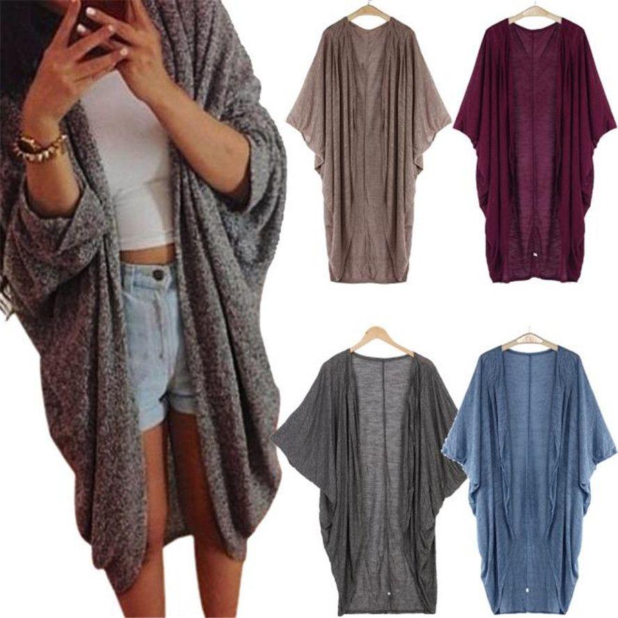 Großhandels- Die meisten Frauen Dame Casual Knit Sleeve Sweater Coat Cardigan Jacke