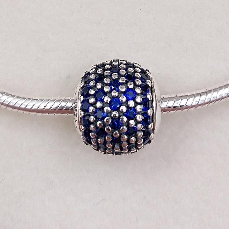 Autentico 925 perline in argento sterling 925 Charms Adatto Bracciali europei Bracciali per gioielli in stile Pandora 796060NCB