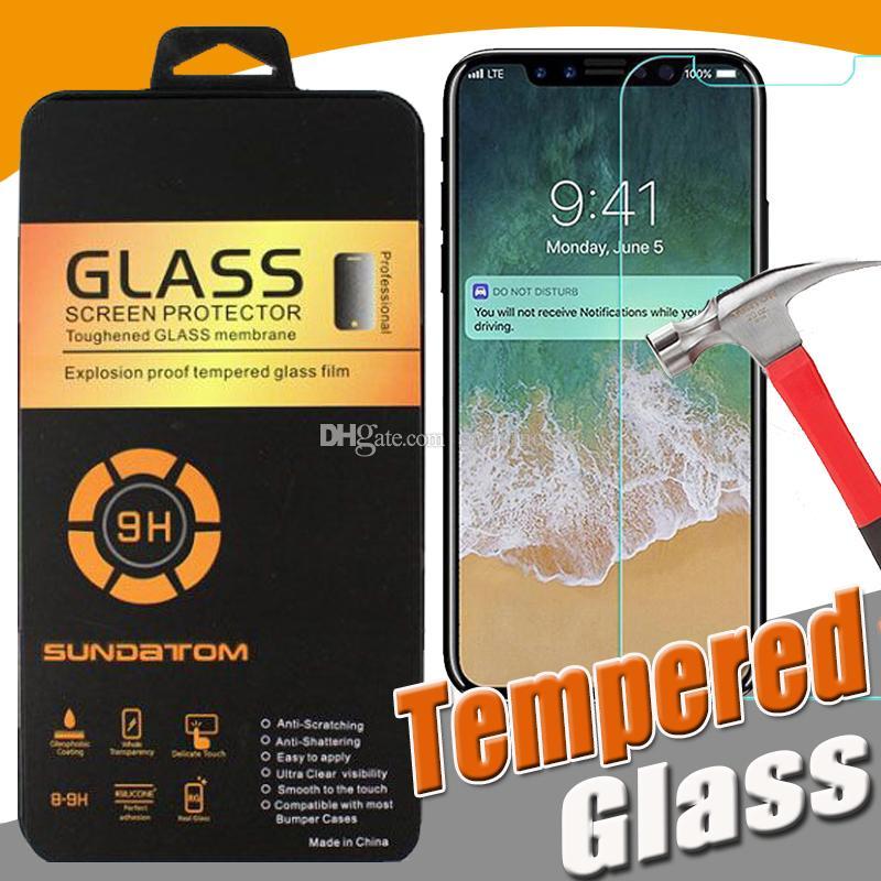 iPhone Per la protezione della pellicola della protezione 9H Premium trasparente dello schermo in vetro temperato 12 Pro Max 11 XS XR X 8 7 6 6S Plus 5 5S SE 2020 abbia imballaggio