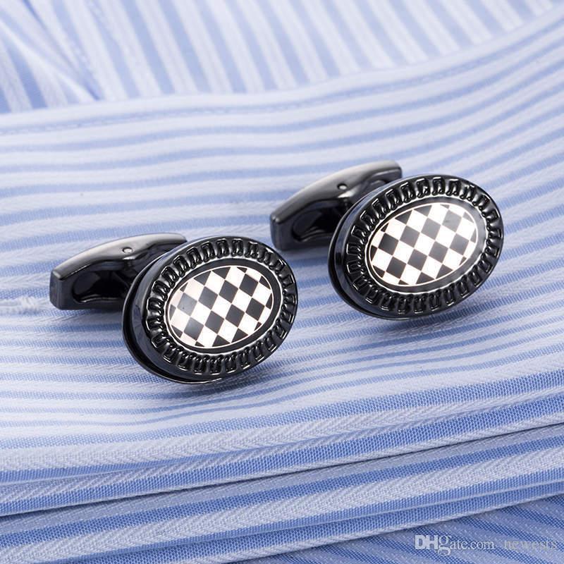 الماركات الفاخرة الأزياء أزرار أكمام معطف عشيق للرجال رفقاء العريس الهدايا مصمم الأعمال بسيط الرجال كم قميص جودة عالية