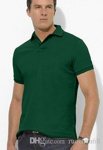 حار جودة عالية للرجال قصيرة الأكمام قميص رجالي الرياضة عارضة تي شيرت قمصان الجولف 100 ٪ قطن كبير الحصان بالإضافة إلى حجم S-XXL
