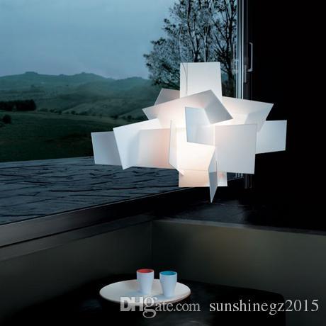 D65cm / 95 centímetros Modern Foscarini Big Bang Stacking criativo moderno candelabro iluminação Art pandant Lamp Branco / Vermelho