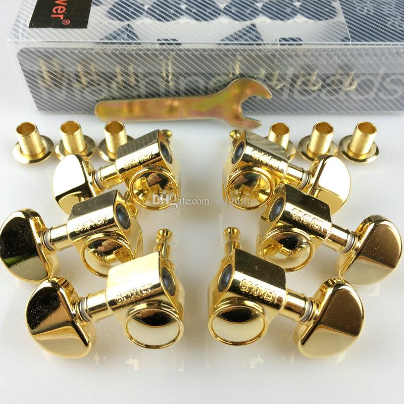 1 مجموعة 3R-3L آلة غيتار الذهب رؤساء مواد الذهب (مع التعبئة والتغليف الأصلي)
