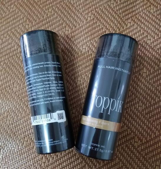 27.5g Toppik Hair Building Fibers Keratin Powder Hair Fiber Loss Concealer Thickening 10 Colors
