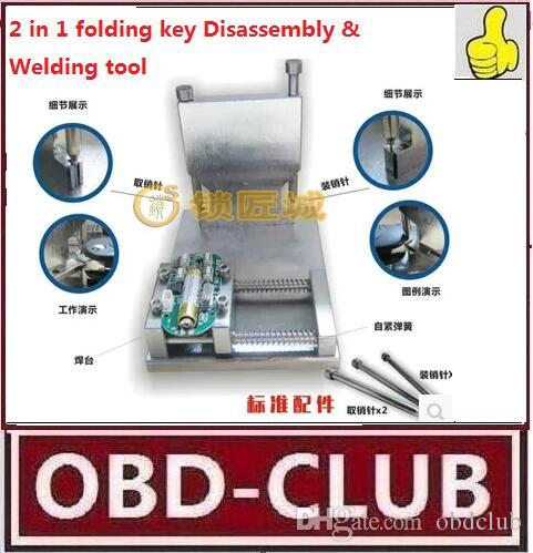 Locksmith 2 in 1 folding key Disassembly & Welding tool apart pin Flip Key Remover and Installation Fixing Tool