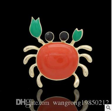 Crabs animal broochs pins drip oil multicolor high-grade brooch scarf buckle christmas gift party birthday gifts