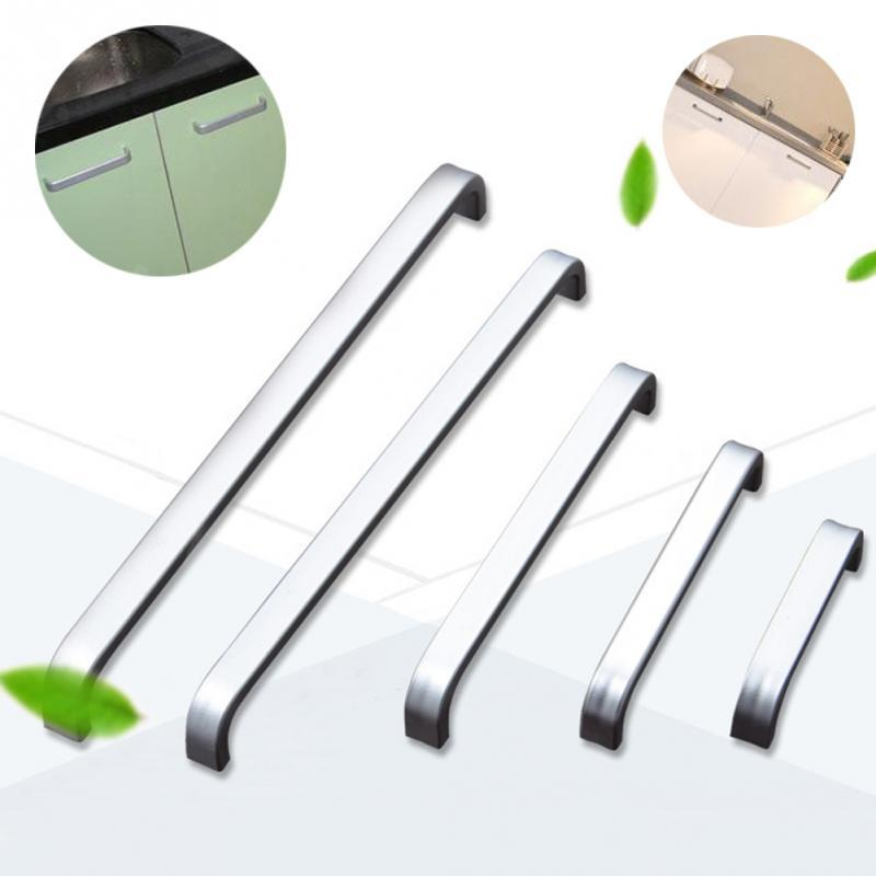 Wholesale- 5 Lengths Solid/Hollow Space aluminum handle Kitchen Furniture pulls wardrobe handle drawer handle 64mm/96mm/128mm/160mm/192mm