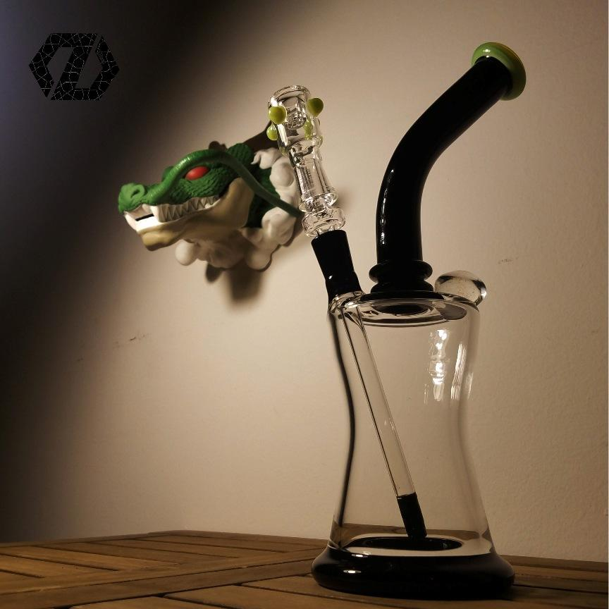 New arrival fashion and pretty flower ball glass water pipes with removeable downstem 14mm female joint