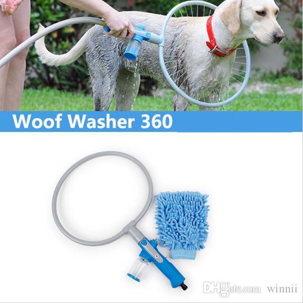 360°PET BASEアーティファクト犬洗浄装置自動クリーニングリングペットグルーミングツール