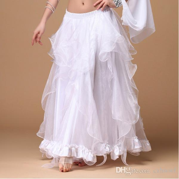 Stage Performance 2019 New Belly Dancing Clothing Long Fly Skirts Professional Women Chiffon Belly Dance Skirt Rayon