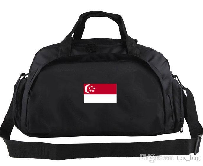 Сингапур вещевой мешок классическая команда тотализатор хорошее использование рюкзак футбольный багаж спорт плечо вещевой открытый слинг пакет