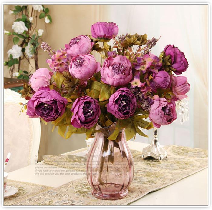 Forniture per feste 13 teste Display Fiore falso artificiale Festival delle peonie Fiori decorativi per feste per la casa Hotel Decorazione del giardino di nozze