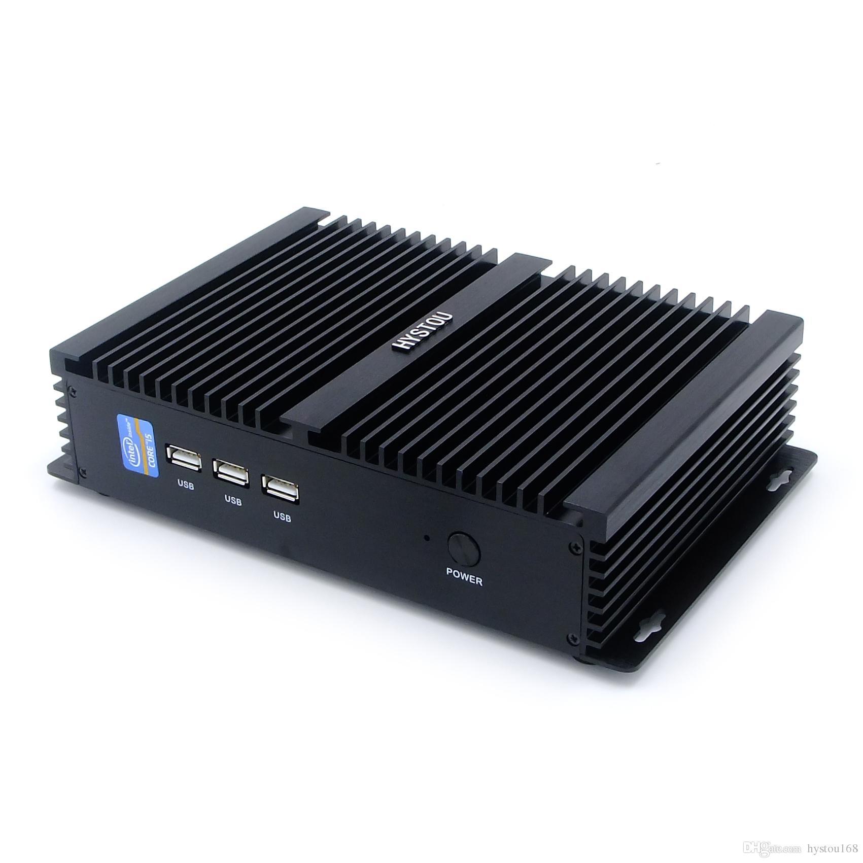 "Mini PC i7 Gigabit Lan Kablosuz Ağ Broadwell 5500u Intel bilgisayar Fansız Tam Alüminyum Alaşım durumda ddr3l Dizüstü Bellek mSATA 2.5 ""SATA"