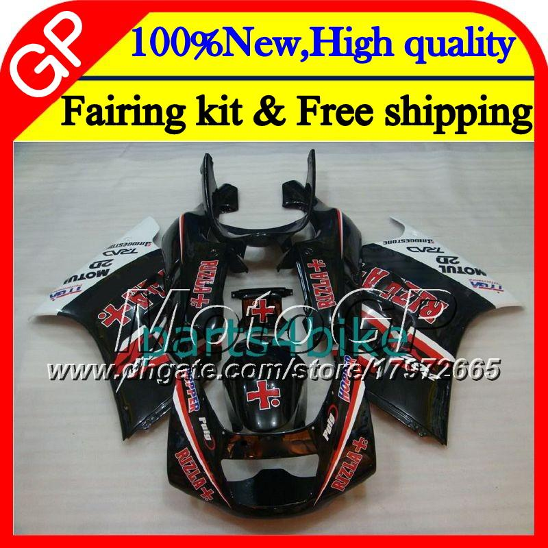 Body For SUZUKI RGV250 VJ23 97-98 RGV 250 97 98 Bodywork RIZLA red 39GP10 RGV-250 VJ 23 Cowling RGV250 1997 1998 blk Motorcycle Fairing kit