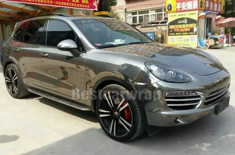 Alta estirable Black Chrome vinilo Wrap Chrome Mirror Foil para coche Wrap Air Bubble Free Size: 1.52 * 20M / Roll (5 pies x 65 pies)