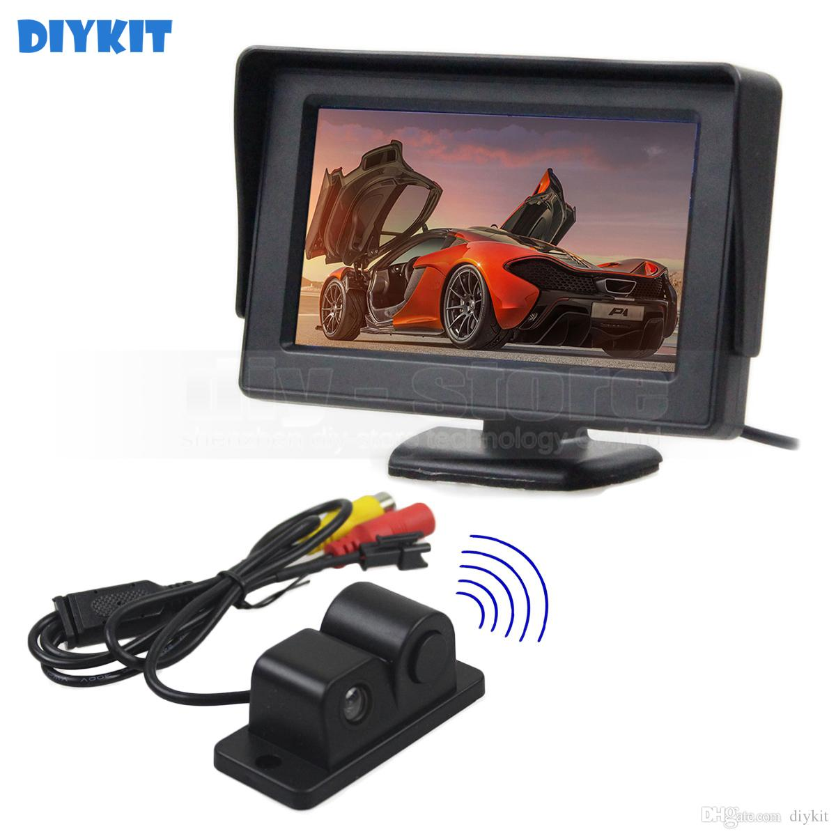 4.3inch Rear View Monitor Car Monitor + Waterproof Parking Radar Sensor Car Camera Parking System Kit 2 in 1