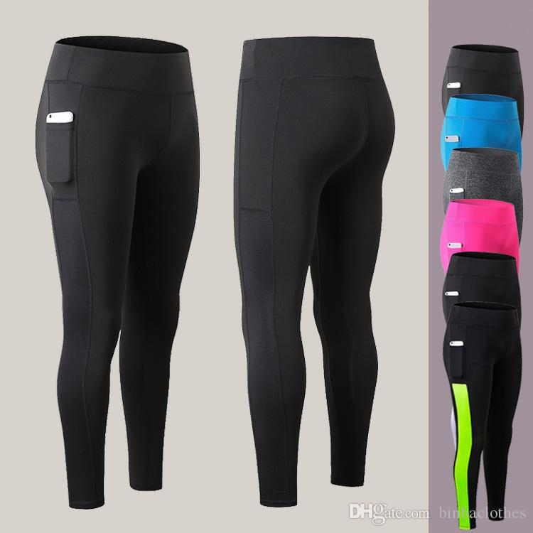 Women's Yoga Workout  Pants Active Running Leggings with Pocket Fitness Trousers
