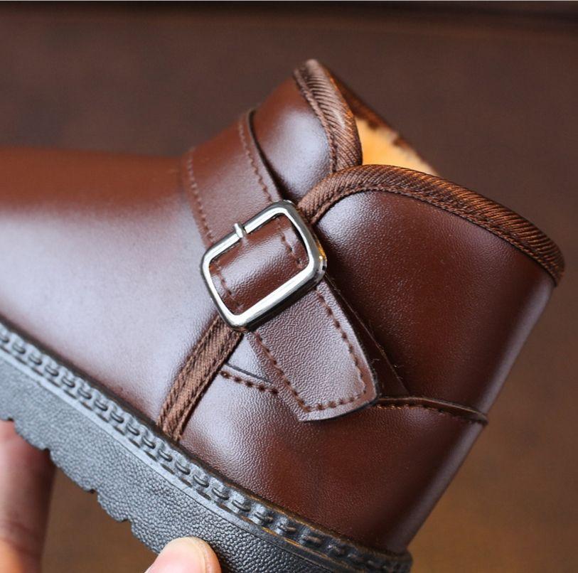 2017 winter plus velvet children's shoes children's waterproof snow boots boys and girls non-slip warm children's shoes