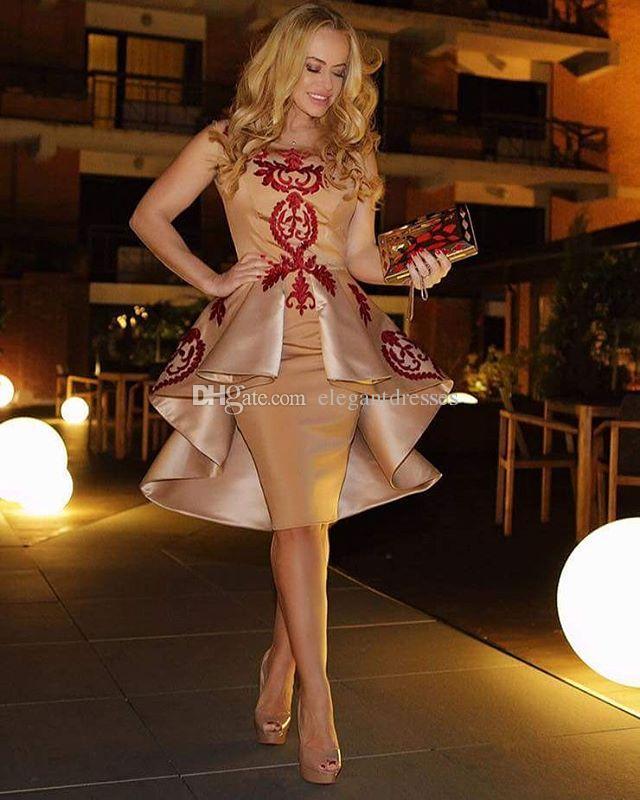 2021 Altın Zarif Kılıf Kokteyl Elbiseleri Balo Parti Elbiseleri Ucuz Mezuniyet Elbise Parti Kıyafeti Yaz Tarzı Custom Made