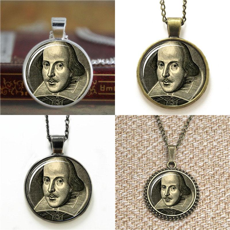 YAOLU Shakespeare Portrait Necklace