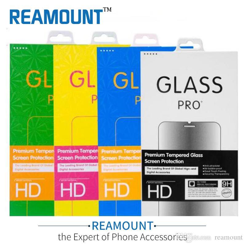 Scatola di imballaggio del pacchetto di carta universale personalizzato per il pacchetto di imballaggio per il telefono cellulare del vetro temperato di protezione dello schermo