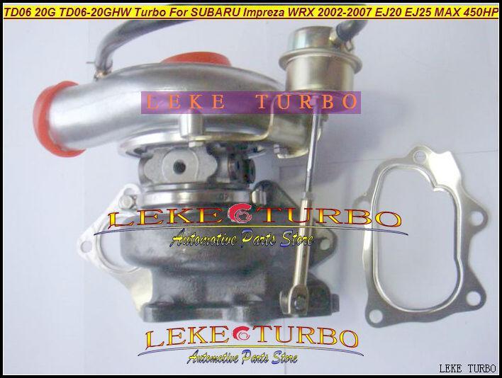 TD06 20G TD06-20GHW Turbo Turbocharger for SUBARU Impreza WRX 2002-2007 MAX HP 450HP Engine EJ20 EJ25 (1)
