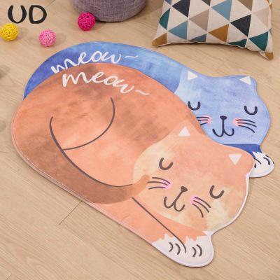 New Printing Non - slip Floor Mat Doormats Cat Cartoon Carpet Rug Kitchen Mats Cartoon Bathroom Mat bedroom Living room Carpet